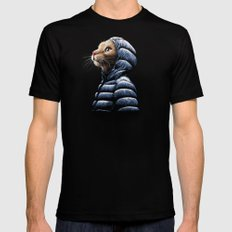 COOL CAT Black LARGE Mens Fitted Tee
