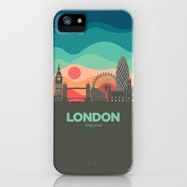 Vintage Travel: London iPhone Case