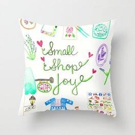 Small Shop Joy Throw Pillow
