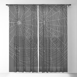 Spiders Web Sheer Curtain