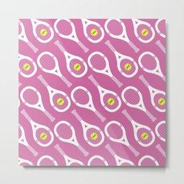 Tennis Pattern (Pink) Metal Print
