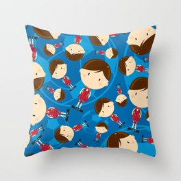 Cartoon Soccer Player Pattern Throw Pillow
