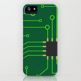 Microchip Pcb, tech print iPhone Case