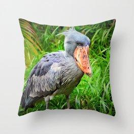 Shoebill Balaeniceps Rex Throw Pillow