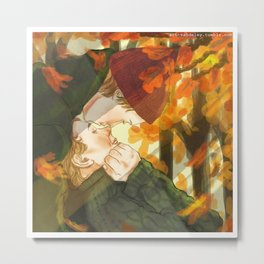 Isak+Even x Autumn Metal Print