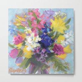 Radiant Spring Bouquet Metal Print