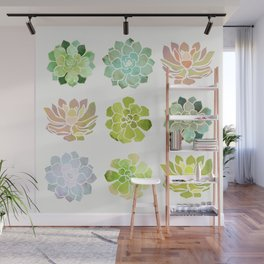 Spring Succulents Wall Mural