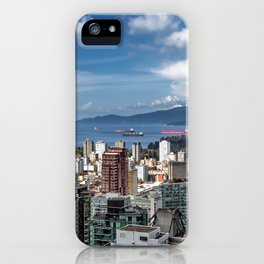 Aerial view at Downtown Vancouver iPhone Case