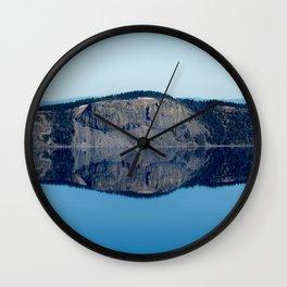 Crater Lake Reflection Wall Clock