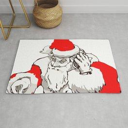 Merry Christmas DJ Santa Nonstop Remix Rug