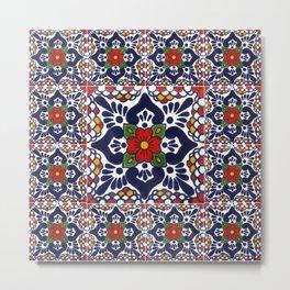 talavera mexican tile pattern Metal Print
