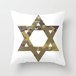 Star of David Camouflage Gift Throw Pillow