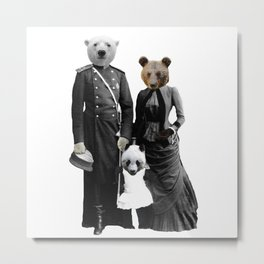 Bear Family Portrait Metal Print