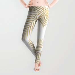 Gold palm leaves Leggings