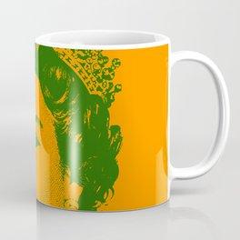 Queen Elizabeth Orange and Green Coffee Mug