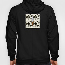 Vanilla Ice Cream Cone With Black Polka Dots - Neapolitan Collection Hoody