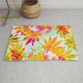 Tropical Adventure - Neon Orange, Pink and Mint Rug