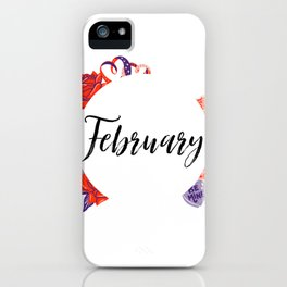 February Bullet Journal iPhone Case