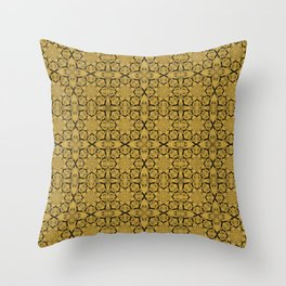 Spicy Mustard Geometric Throw Pillow