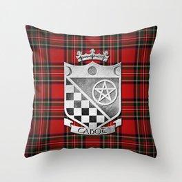 Cabot Tartan/Silver Shield Throw Pillow