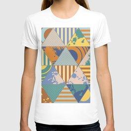 Multi Patterned Geometric Triangles T-shirt