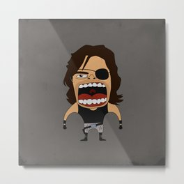 Screaming Snake Plissken Metal Print