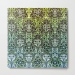 Forest Lake. sacred geometry. seamless pattern Metal Print