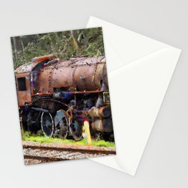 Cemetery of locomotives Stationery Cards