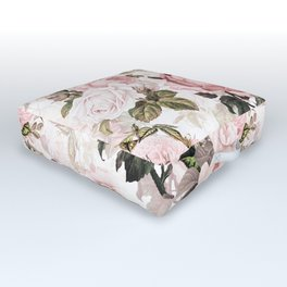 Vintage & Shabby Chic - Sepia Pink Roses  Outdoor Floor Cushion