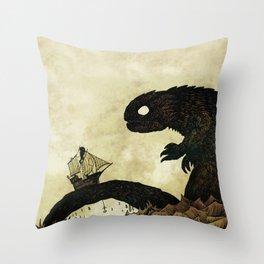Leviathan & Ship Throw Pillow