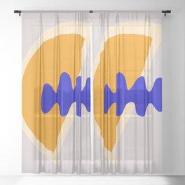 Abstract Summer Vibes Sheer Curtain