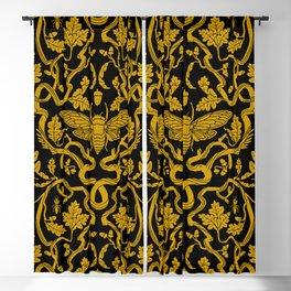 Cicada Oak Damask Blackout Curtain