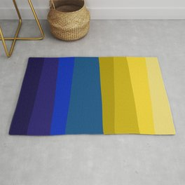 Blues and golds Rug