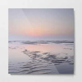 Tropical sunset Texel | Travel photography Netherlands |  Metal Print