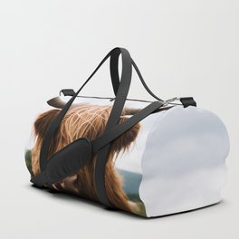 Scottish Highland Cattle in Scotland Portrait II Duffle Bag