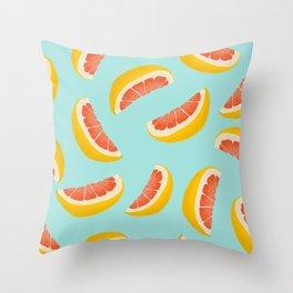 Citrus fruit seamless pattern digital illustration  Throw Pillow