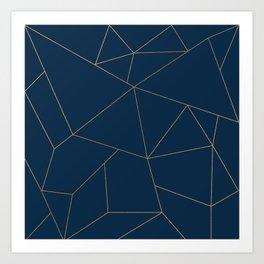 Golden Crystal Web Pattern Kunstdrucke
