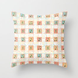 Music notes IV Throw Pillow