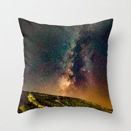 Copper Mountain Galaxy // Incredible Photograph of the Milky Way Stars and Cosmic Dust Throw Pillow