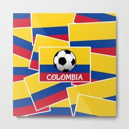 Colombia Football Metal Print