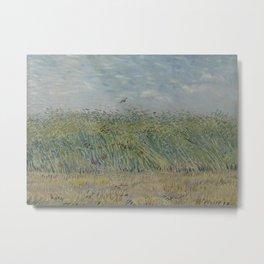 Wheatfield with Partridge Metal Print