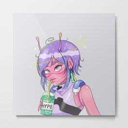 Alien Girl Metal Print