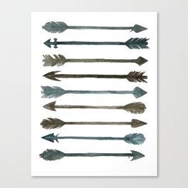 Somber Arrows Canvas Print