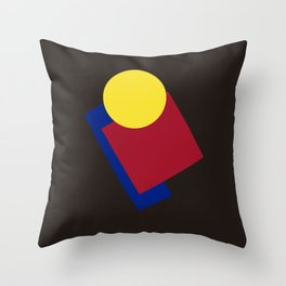 Modern geometric abstract 6 Throw Pillow