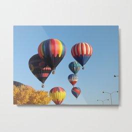 Balloons Arising Metal Print