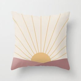 Morning Light - Pink Throw Pillow