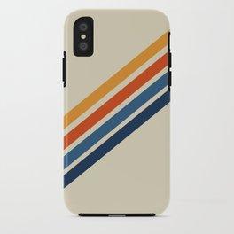 Rainbow 70s 60s Stripe Colorful Rainbow Tan Retro Vintage iPhone Case