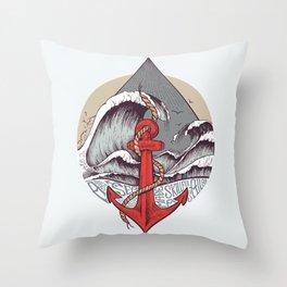 Smooth Sailing Throw Pillow