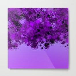 paint splatter on gradient pattern dp Metal Print