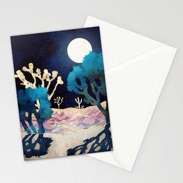 Desert Lake Moonlight Stationery Cards